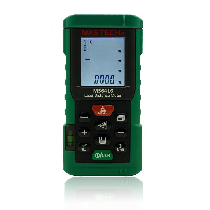 MASTECH MS6416 60M Laser Rangefinder Distance Meter Electronic Laser Ruler Distance Area Volume Measuring Instrument with Bubble Level