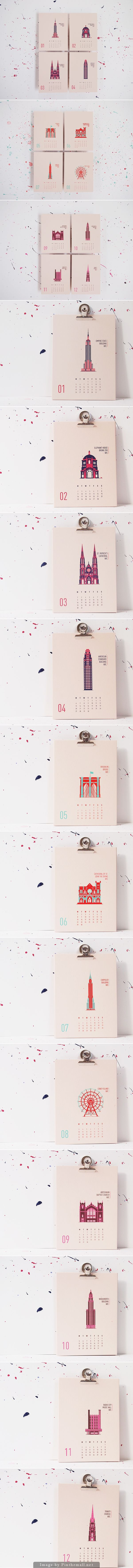 New York City 2015 Calendar by Marieken Hensen