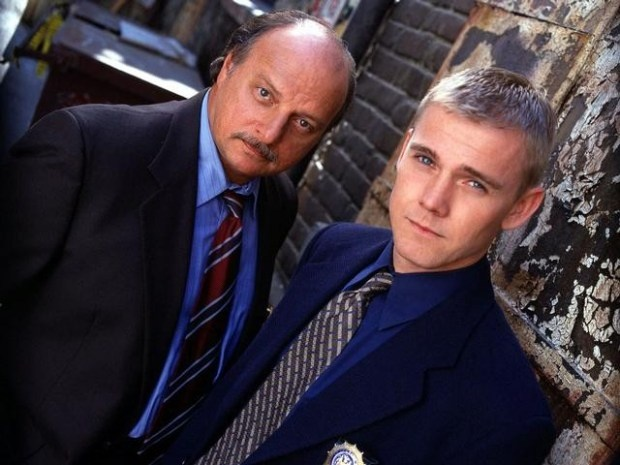 NYPD Blue - Actors Dennis Franz (L) and Rick Schroeder are registered Republicans.