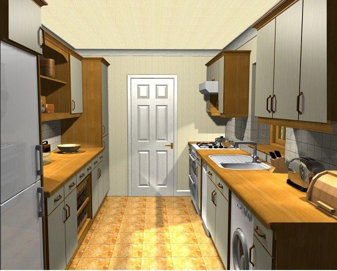 The 25 best galley kitchen redo ideas on pinterest for Corridor kitchen