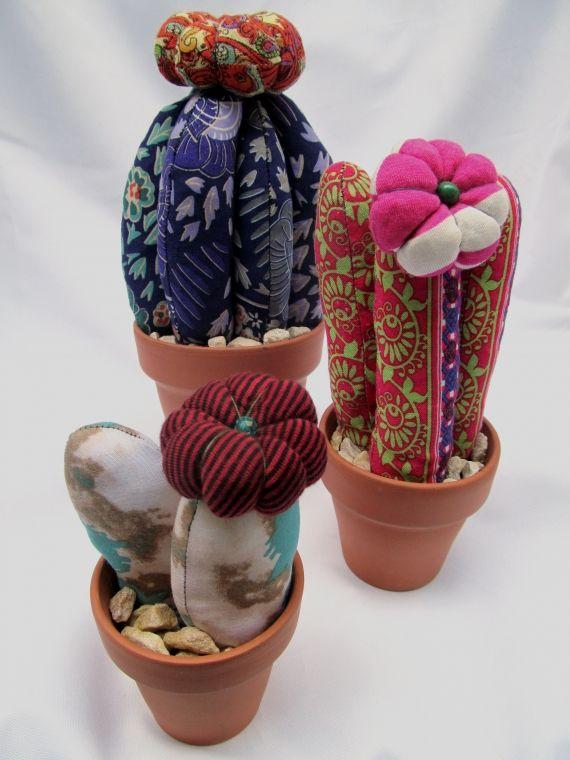 Cactus de tela - Macetas - Los cactus de tela más bonitos!!!