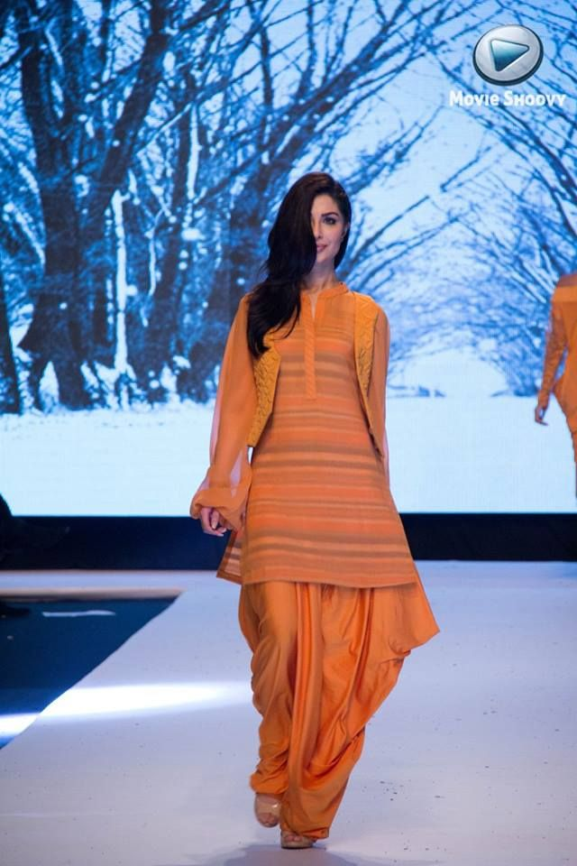 Beautiful Orange patiyala dress