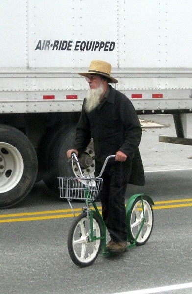 amish bicycle- they're basically scooters shaped like bicycles? id ride one