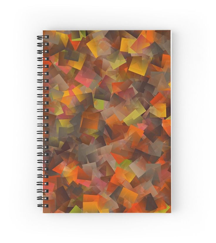 Autumn Colors Cut Paper Pattern | Hardcover journals also available in ruled line, graph, or blank.
