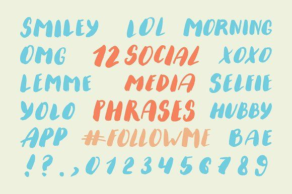 Social Media Phrases Set by Creativemaker on @creativemarket
