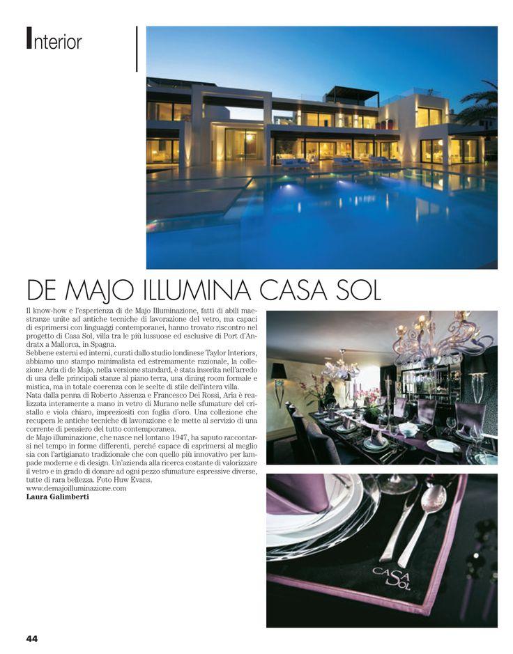 de Majo illumina Casa Sol di Mallorca Scopri la collezione Aria in vetro di Murano: http://www.demajoilluminazione.com/it/prodotti/dettaglio/t/chandelier/f/aria-i-quattro-elementi.html #deMajo #Mallorca #Aria #lampadari #Murano #interni #ddn