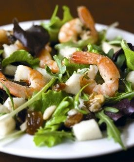 Fris scampislaatje met peer - Recepten - Culinair - KnackWeekend.be / voorgerecht