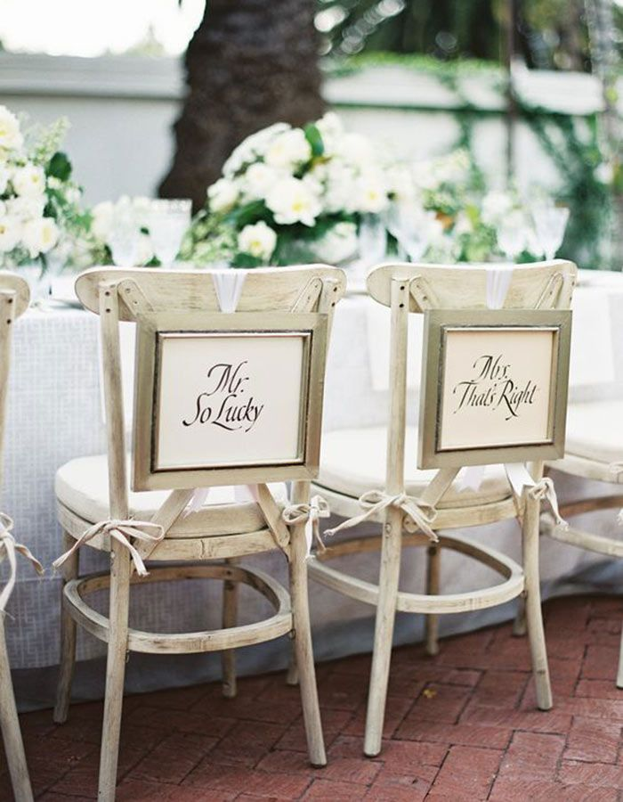 The 8 Best Ways To Show Off Your Sense Of Humor At Your Wedding Wedding Chair Decorations Wedding Chairs Sweetheart Chair
