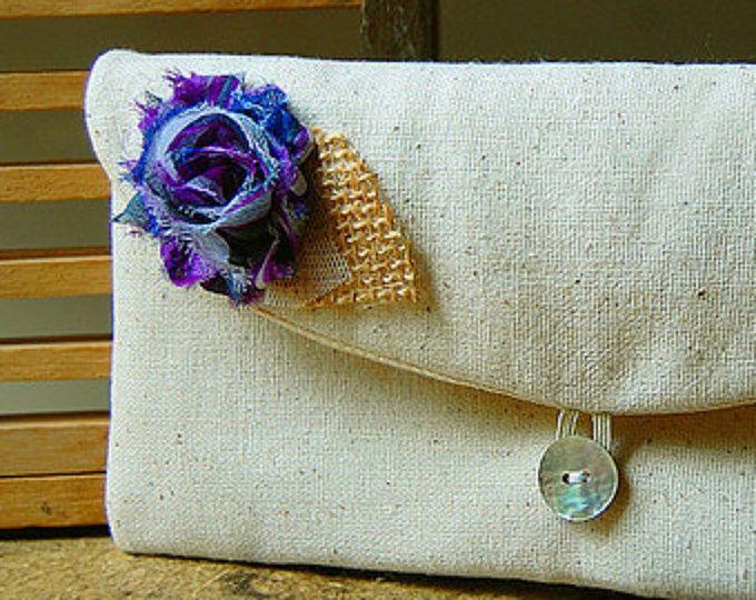 embrague gris púrpura arpillera monedero boda rústico azul, negro, oro gris cutre rosa monedero regalo de fiesta de Dama de honor personalizar maquillaje