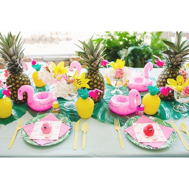 flamingo & pineapple first birthday party
