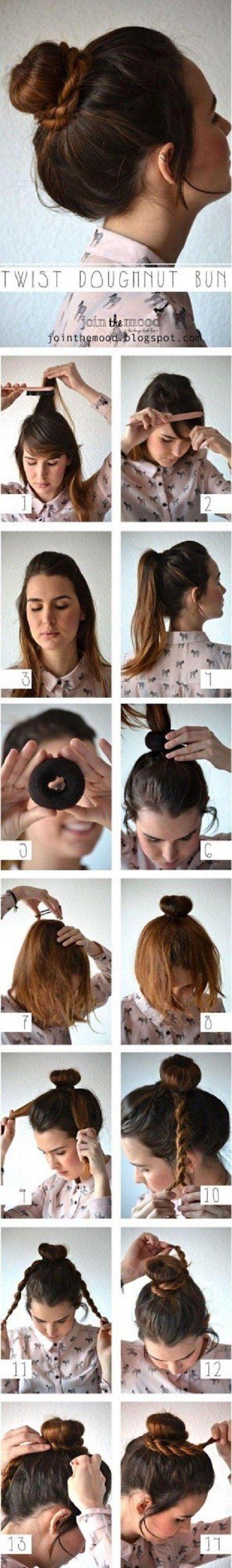 Twist Dougmnut Bun - Hairstyle Tutorial