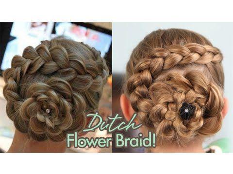 Dutch Flower Braid | Updos | Cute Girls Hairstyles