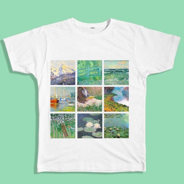 claude monet t-shirt, monet shirt, painting shirt, van gogh, grunge, soft grunge, grunge fashion, aesthetic clothes, aesthetic outfit, pale grunge, pastel grunge, aesthetic tumblr