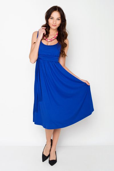 Basic Umstands-& Stillkleid in kobaltblau von AgnesH.  Umstandskleidung und Stillkleidung auf DaWanda.com
