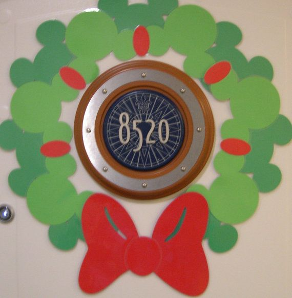 Gorgeous Disney Cruise or Mickey's Very Merry Christmas Party Silhouette Wreath Magnet - Make Your Door Special this Holiday