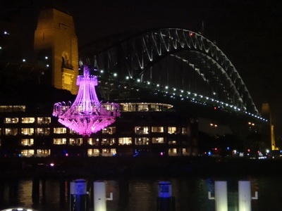 Vivid light show Sydney