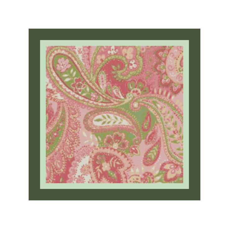 Baby Pink Paisley Pillow Cover Cross Stitch by http://www.newtheatre.com/cs/cs_s21s4.html