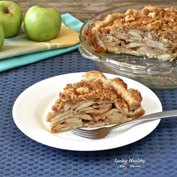Paleo Apple Pie Recipe (grain/gluten/dairy/egg/sugar-free) - livinghealthywithchocolate.com