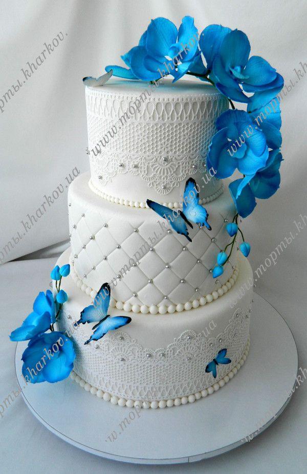 Картинки по запросу свадебные торты синие
