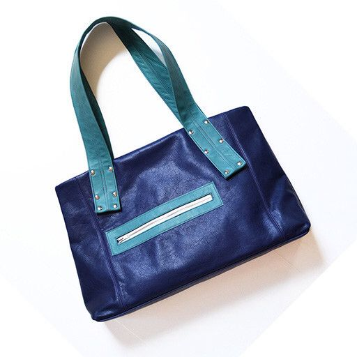 Who says serviceable can't be fun and funky? You won't find a better bag to fill that bill than this stunning Brooklyn-made Grayson travel bag by Lola Falk. Available online at essepursemuseum.com or in the Store at ESSE for $318.