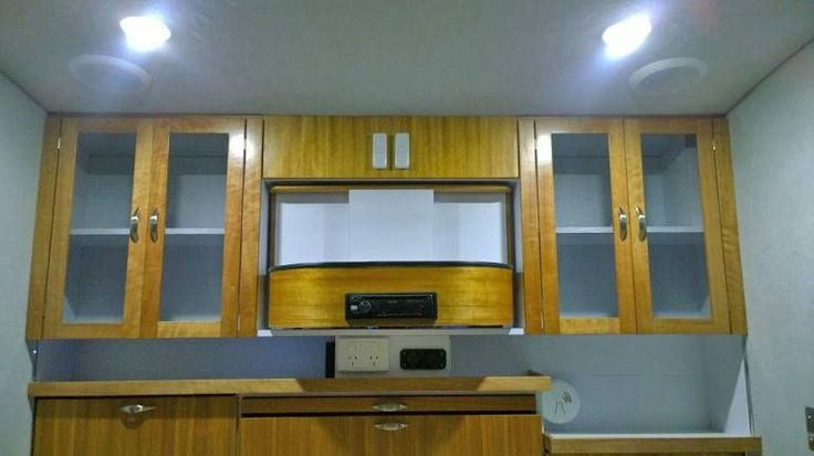 Gidget teardrop camper takes sliding approach to extra space.  Queensland Maple interior cabinetry