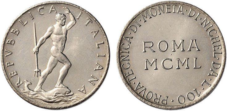 NumisBids: Nomisma Spa Auction 50, Lot 488 : Repubblica italiana (1946-) 100 Lire 1950 Prova tecnica di moneta di...