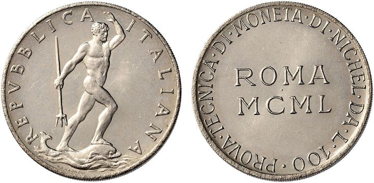 NumisBids: Nomisma Spa Auction 50, Lot 488 : Repubblica italiana (1946-) 100 Lire 1950 Prova tecnica di moneta di...