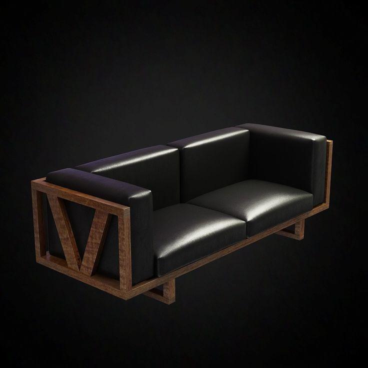 Erik Jorgensen Frame Sofa - 3D furniture model - Use PROMO CODE: pin3d and get 20% off - $12.00