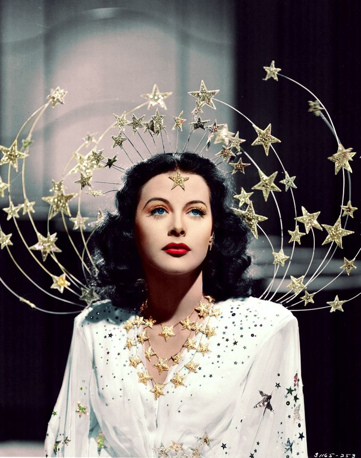 Hedy Lamarr in Adrian - 1941. We're in love with this look!