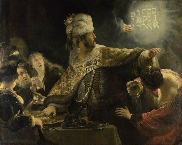 Belshazzar's Feast by Rembrandt van Rijn The National Gallery, London