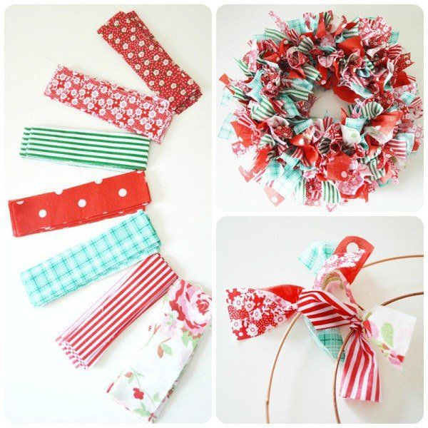 How to make a rag wreath DIY wreath ideas decoration on a budget                                                                                                                                                                                 More
