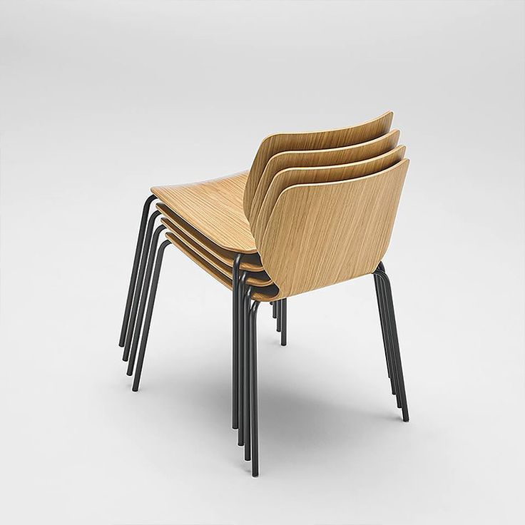 NIM 1.3 | Sandler Seating. Veneered wood chair on steel legs. Suitable for stacking.