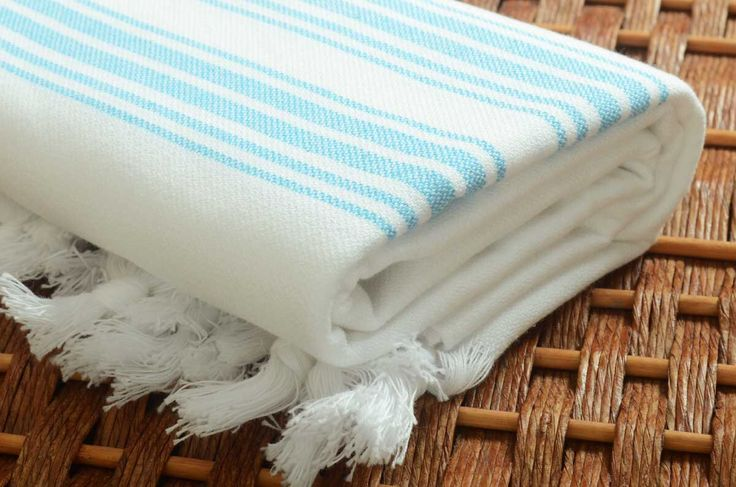 SUPER SALE %50 Off - High Quality Personalized Turkish Towel Pure White Peshtemal Towel with Turquoise Stripes - Bachelorette Wedding by NaturalSoft on Etsy https://www.etsy.com/listing/224335309/super-sale-50-off-high-quality