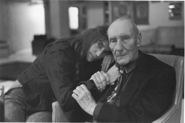 Patti Smith and William S. Burroughs photographed by Allen Ginsberg