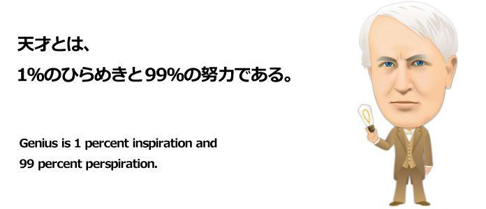 エジソンの名言。有名な名言特集