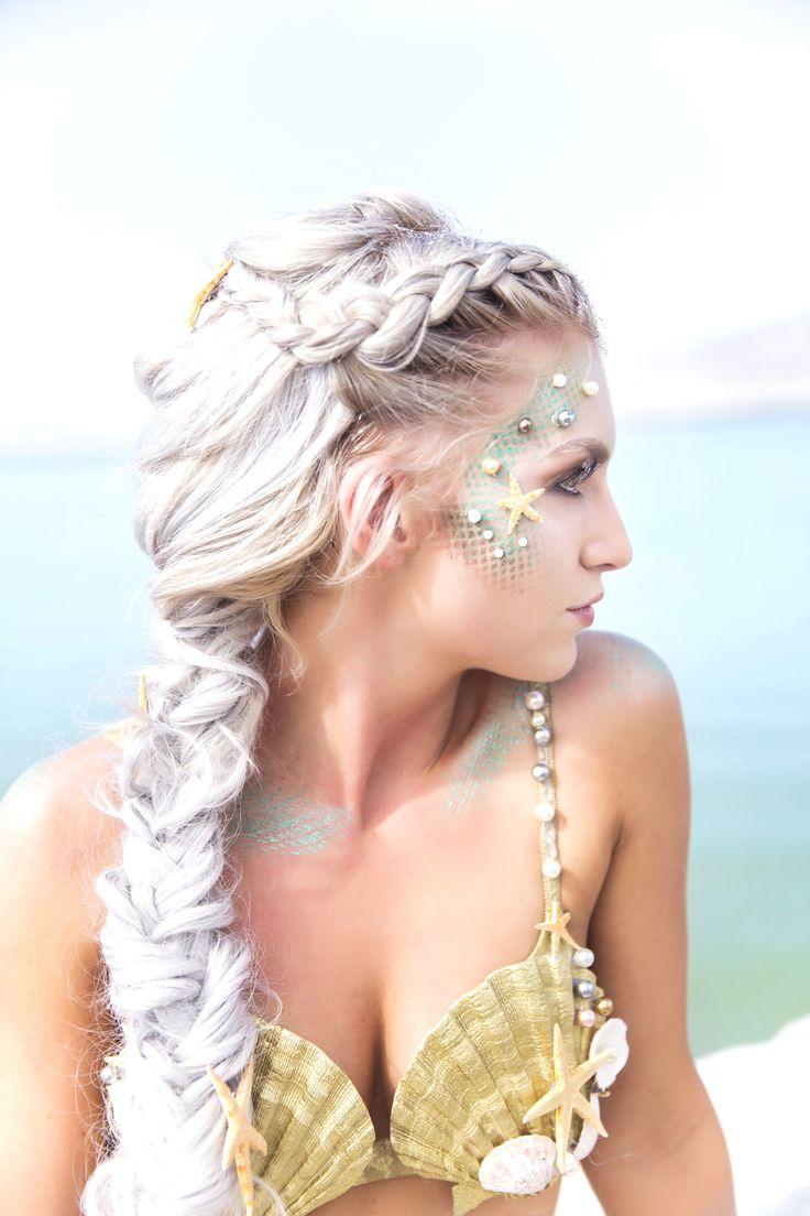 Mermaid makeup and costume idea #mermaidmakeup #mermaidcostume #halloweencostume