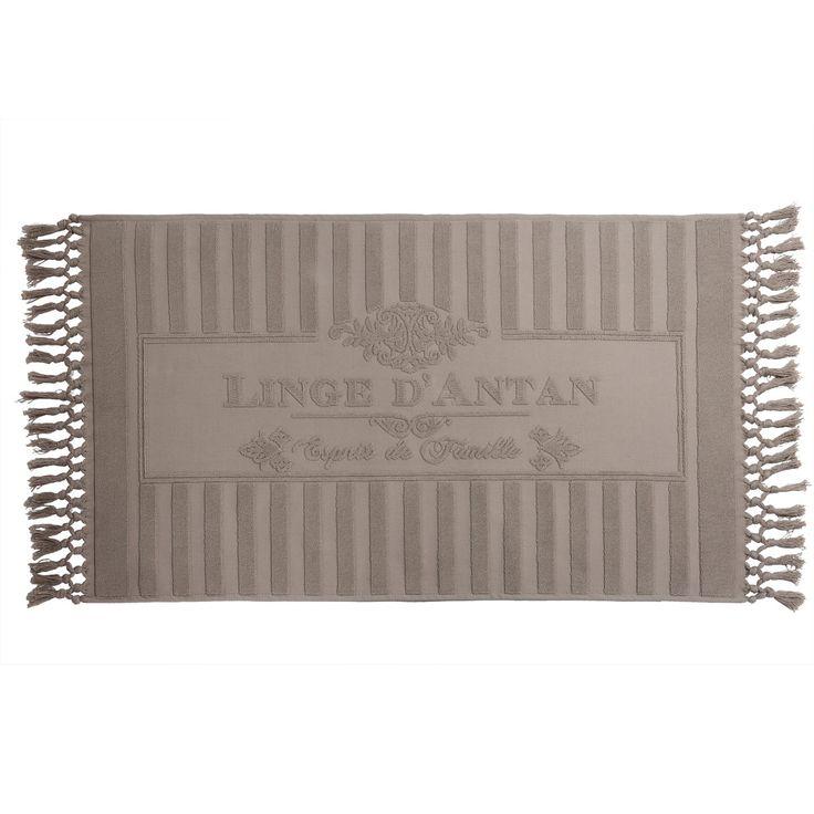 Badvorleger LINGE D'ANTAN aus Baumwolle, 50 x 80cm, beige