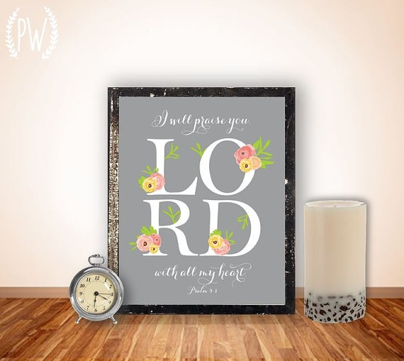 I will praise you, Lord, with all my heart.  Psalm 9:1