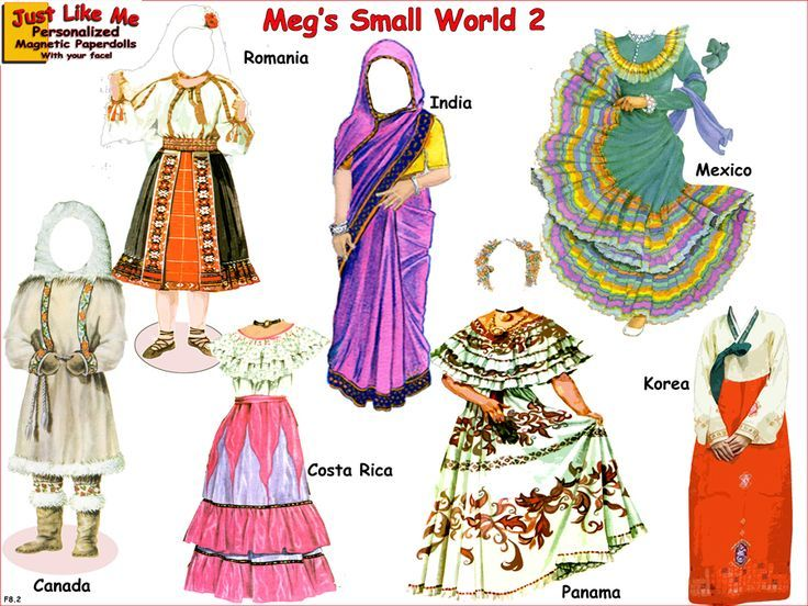 Image result for personalized magnetic paper dolls from around the world