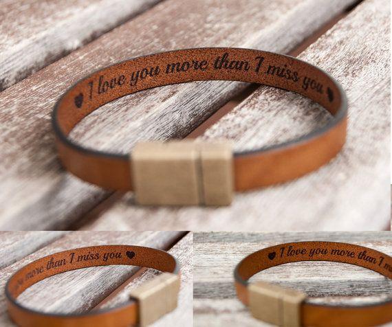 Gift for her Hidden Secret Message Bracelet Mens by BeGenuine