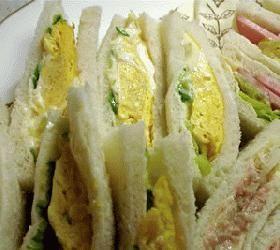 昔ながらの喫茶店の味:西アサヒの卵サンド