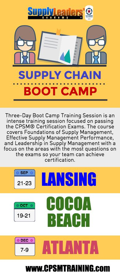 supply boot camp cpsm management chain certificate join deposit certification