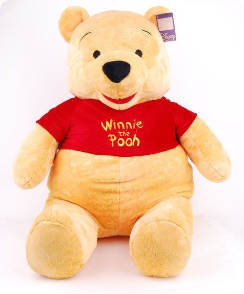 Authentic Big Size Winnie the Pooh In Red Shirt, Disney Toys, Disney Toys