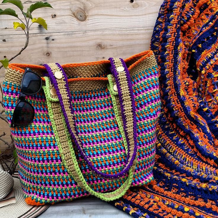 Ravelry: Tropical gardens bag pattern by Holly Ferrier