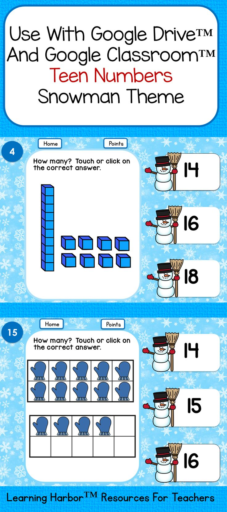 Students will love using this interactive game with Google Drive™ or Google Classroom™.  They will practice identifying quantities of 11 - 20 represented by tens blocks and ten frames. They also identify teen numbers and improve computer skills and dexterity.