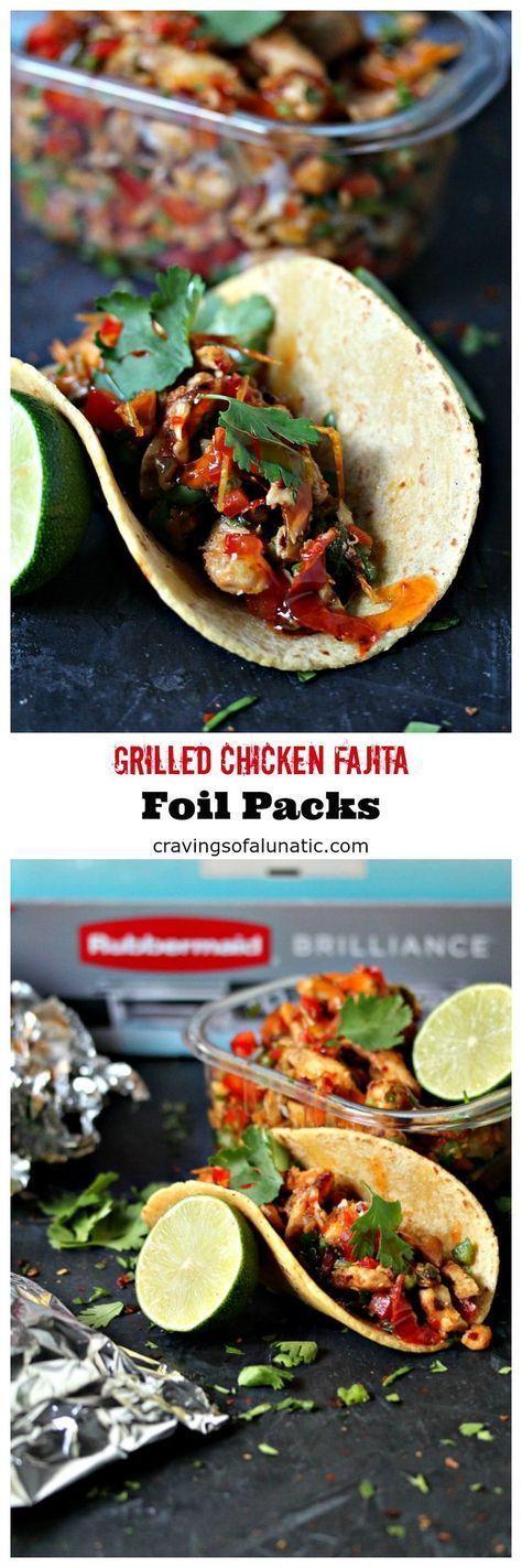 Fajita Aluminum Grilled Chicken Kits from kissmysmoke.com- This Chi … – Faith …   – Foil Pack Recipes