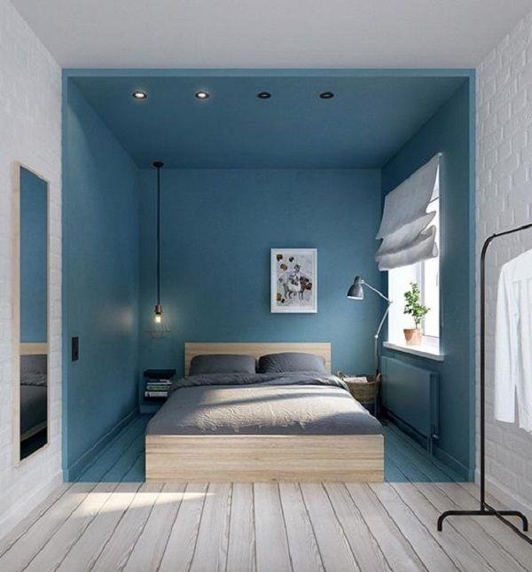 Endnu engang et fremragende eksempel på, hvordan man kan skabe et rum i rummet ved hjælp af maling. En genial løsning hvis du bor et sted, hvor et rum har flere funktioner, som f.eks. soveværelse o...