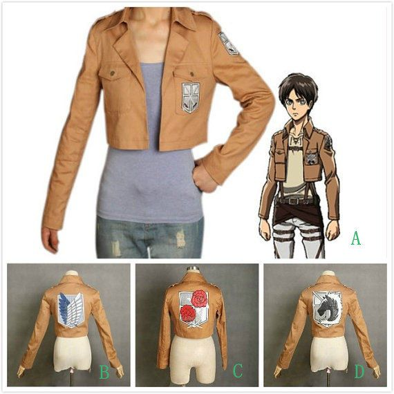 Popular Trendy Attack on Titan Shingeikinokyojin Training Corps/Recon   Corps/Stationed Corps/Military Police Jacket