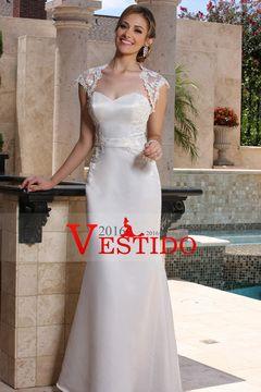 2016 vestidos de boda del amor de satén vaina con apliques Y Chaqueta US$ 159.99 VEPPR52M2L - 2016vestido.com