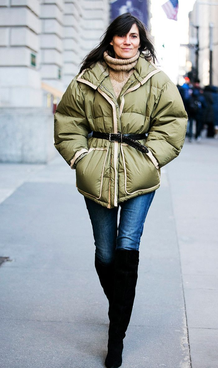 Yes, There Is a More Fashionable Way to Wear a Puffer Coat via @WhoWhatWear